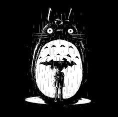 Studio #Ghibli: My Neighbor #Totoro #silhouette t-shirt.