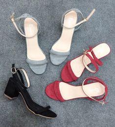 Mua giày xinh online ở đâu - Sandal 5p quai mảnh