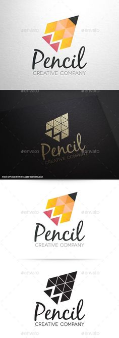 Pencil Creative Logo Template - Abstract Logo Templates http://jrstudioweb.com/diseno-grafico/diseno-de-logotipos/