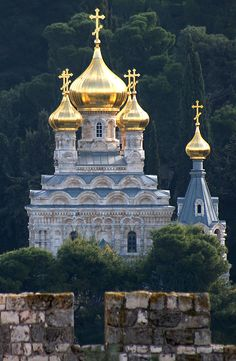 Russian Orthodox Church of St. Mary Magdalene ~ Jerusalem, Israel