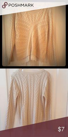 Lace detalied sweater Super cute lace detailed sweater Monteau Sweaters Crew & Scoop Necks