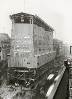1930 chantier de rénovation de la SAMARITAINE
