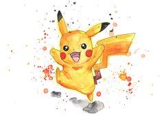 Pokemon / PokemonGo Pikachu Original Artwork Watercolor Painting