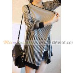 Fashion Stripe Long Sleeve Knitting Sweater Cardigan for Women - Knitting Shirt - Fashion