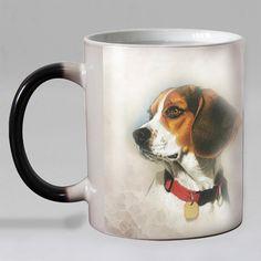 Cute Dogs Mystical Heat Sensitive Coffee Mug Tea Cup I Love Dogs, Cute Dogs, Beagle Colors, Coffee Cups, Tea Cups, Dog In Heat, Color Changing Coffee Mug
