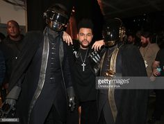 News Photo : Musicians Daft Punk and The Weeknd attend The...
