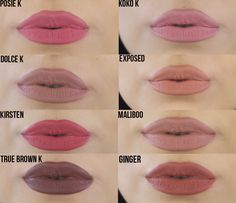 Image result for kylie lip kit ginger swatches