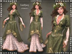 25560ba438 Second Life Marketplace - Luthien Gown ~FOREST~ by Caverna Obscura - rigged  and fitted
