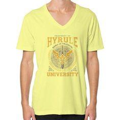 Hyrule University V-Neck (on man)
