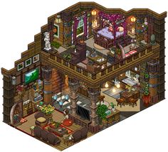 Twitter  Weebz   Hi! Finally finished the inside design of the treehouse I build :3  Note: I don't pixelate the rooms myself, I use pre-made pixelated furniture and make a ...