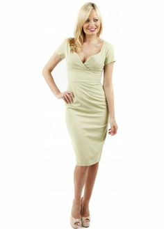Vintage Inspired Pale Green Camille Pencil Dress
