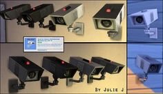Security Camera Made Buyable and Recolours by Julie J at Mod The Sims via Sims 4 Updates My Sims, Sims Cc, Sims 4 Nails, Sims 4 Pets, Muebles Sims 4 Cc, The Sims 4 Packs, Pelo Sims, Sims House Design, Sims 4 Children