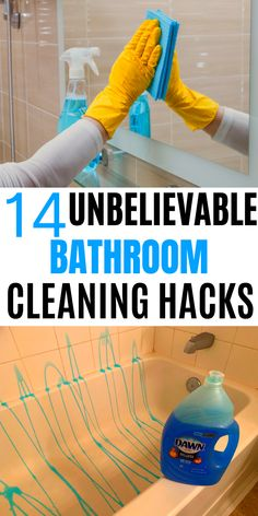 This will show you 14 unbelievable bathroom cleaning tips and hacks you should definatly try out Diy Home Cleaning, Household Cleaning Tips, Cleaning Recipes, House Cleaning Tips, Diy Cleaning Products, Cleaning Solutions, Deep Cleaning, Spring Cleaning, Cleaning Schedules