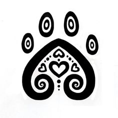 Dog paw print tattoo