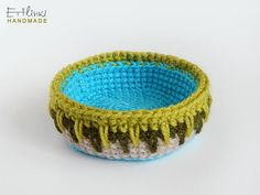 Keys tray Jewellery organizer basket Detailed crochet bowl