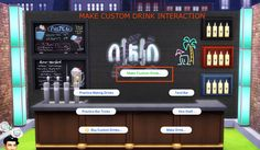 Mod The Sims - Custom Drink Interactions (Update Jan 30, 2017)