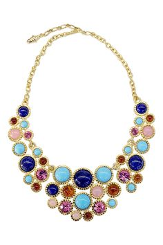 With this necklace to pull in pink...Kenneth Jay Lane Renaissance Statement Necklace