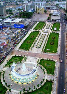 Aerial view Paseo Ciencias. Maracaibo
