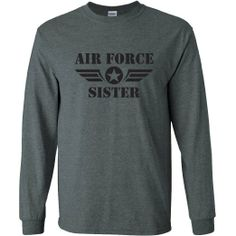 LOVE my Marine Long Sleeve Tee in Dark Heather Small ** Find out more about the great product at the image link. Navy Air Force, Air Force Mom, Airforce Wife, My Marine, Spirit Wear, Love Shirt, Family Shirts, Branded T Shirts, Shirt Designs