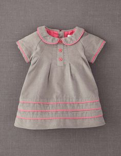 Pretty Cord Dress in Gray -- The definitively pretty, traditional, corduroy dress in two fabulous colours. Unlike anything you will find elsewhere.