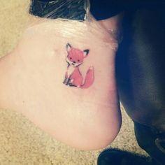 Image result for mini tattoos on feet & fox