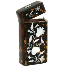 1stdibs | Antique Tortoise Shell Mother of Pearl French Cigar Case Etui 1830-1850