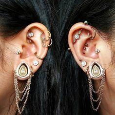 ideas for piercing eyebrow stretched ears Tragus, Septum Piercings, Gauges, Peircings, Ear Jewelry, Fine Jewelry, Body Jewelry Piercing, Jewellery, Unique Ear Piercings