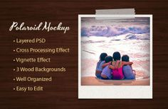 FREE Polaroid mockup template for Photoshop