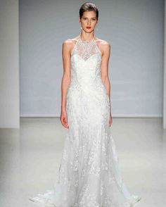 Alfred Angelo Fall 2017 Wedding Dress Collection   Martha Stewart Weddings – Illusion halter-neck A-line gown