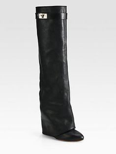 http://www.shopstyle.com: Givenchy Leather Knee-High Sheath Boots