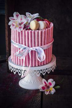 Layered Strawberry Cake