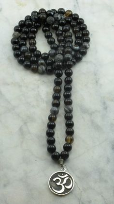 OM_Mala_108_Black_Agate_Mala_Beads_Buddhist_Prayer_Beads_II