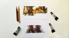 Tree Residents: 2 diffrent DIN A5 Prints from my by Iraville