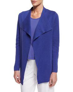 Open+Interlock+Jacket,+Iris+by+Eileen+Fisher+at+Neiman+Marcus.