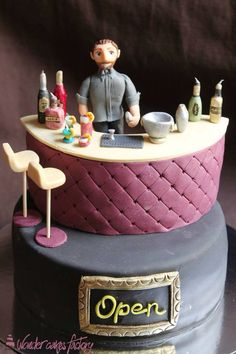 """The bar is Open"" cake."