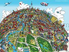 Berlin Looking East by Hartwig Braun