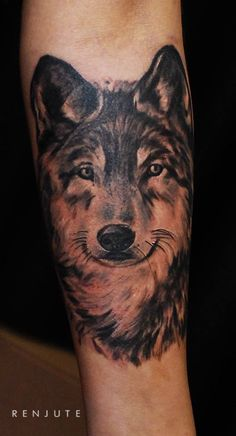 wolf tattoos forearm - Google Search