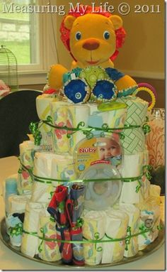 burp cloth cake