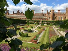 Garden at Hampton Court.
