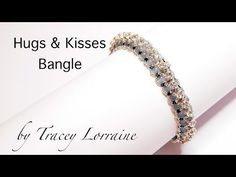 Beadwork bangle tutorial - Hugs and Kisses - by CrystalStarGems - YouTube