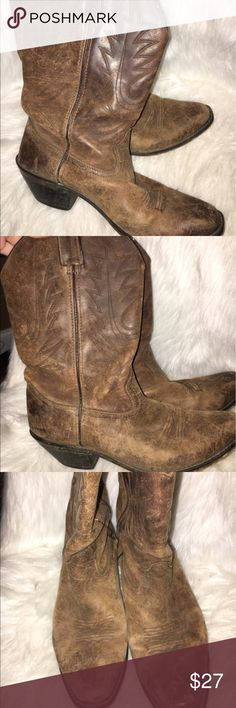 Cowboy boots These are very well loved. Very worn. Comfortable and still have a lot of life in them Shoes Heeled Boots