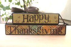 Cute thanksgiving blocks via Etsy
