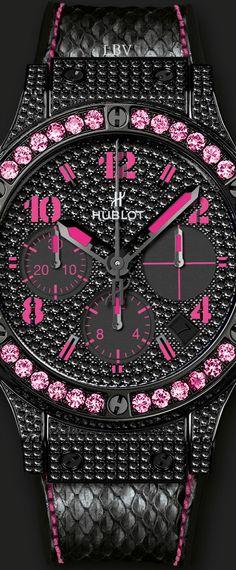 Hublot Black Fluo Pink | LBV ♥✤ Luv this watch!