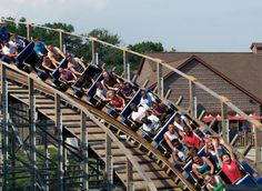 Take a Voyage on One of the World's Best Wooden Coasters: The Voyage features a total of eight underground dives--a wood coaster world record.