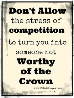 Develop your ability to remain calm and focused under pressure. Check out this pageant blog.