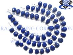 Lapis Lazuli Faceted Pear (Quality AAA) Shape: Pear Faceted Length: 18 cm Weight Approx: 12 to 14 Grms. Size Approx: 8x10.5 to 8.5x13 mm Price $20.88 Each Strand