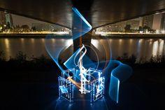 De Arabische licht kalligrafie van Julien Breton