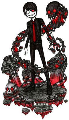 Kraven Krauss by DemiseMAN on DeviantArt Emo Art, Goth Art, Arte Emo, Gothic Artwork, Tim Burton Style, Emo Love, Chibi, Dark Drawings, Creepy Pictures