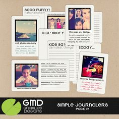 Template to turn Instagram photos into journaling cards