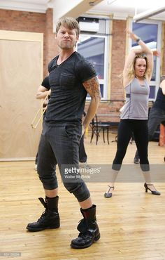 Randy Harrison during the press preview for the Roundabout Theatre Company's National tour production of 'Cabaret' at Gibney Studios on January 8, 2016 in New York City..